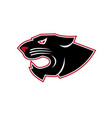 aggressive panther head icon vector image vector image