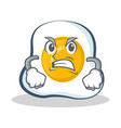 angry fried egg character cartoon vector image vector image
