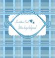 Background invitation Blue vector image