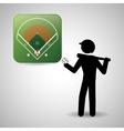 Baseball design sport icon flat vector image vector image