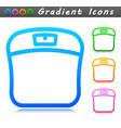 bathroom scale symbol icon vector image