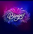 bingo hand written lettering text vector image vector image