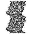 black lacy vintage elegant trim vector image