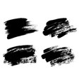 black paint ink brush stroke brush line or vector image vector image