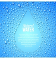 Blue abstraction with drops and copy space vector image vector image