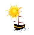 boat with sun vector image