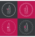 Bottle of wine with a glass wine vector image vector image