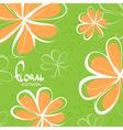 Bright schematic orange flowers