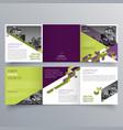 brochure design 639 vector image vector image