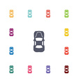 car top flat icons set vector image