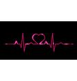 cardiogram love vector image vector image