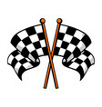 checkered race flags crossed vector image