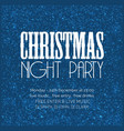 christmas night party snow background vector image vector image