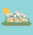 city landscape flat vector image vector image