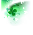 Clover on a light background vector image vector image
