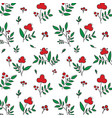 colored seamless flower pattern vector image