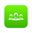 customer support operators icon digital green vector image vector image