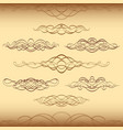 divider ornament vintage swirl scroll curl set vector image