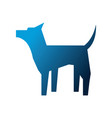 dog mascot silhouette isolated icon vector image