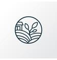 eco farming icon line symbol premium quality vector image