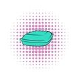 Food box icon comics style vector image vector image