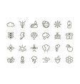 forest foliage ecology nature line design icons vector image