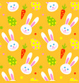 happy adorable rabbit face cartoon character head vector image vector image