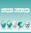 happy easter background with eggs of shadow vector image vector image