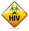 hiv biohazard virus danger sign with reflect and vector image vector image