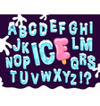 ice and snow cartoon font vector image