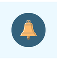 Icon with colored bell vector image
