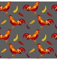 image of red rooster seamless pattern vector image