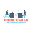 international day of persons with disabilities vector image vector image