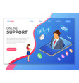 isometric online customer support vector image