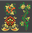 khokhloma pattern design traditional russia vector image vector image