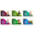 lets go egg hunting collection horizontal vector image