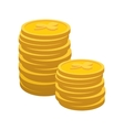 Lucky gold coin cartoon icon vector image vector image
