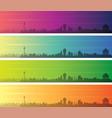 macau multiple color gradient skyline banner vector image vector image