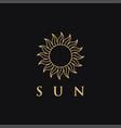 minimalist ethnic lineart sun logo icon template vector image vector image