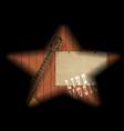 musical boards guitar shadow vector image vector image