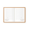 notebook with hen with eggs empty vector image