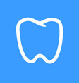 outline tooth icon modern design vector image