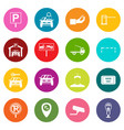 parking set icons many colors set vector image
