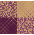 pattern baroque set vector image vector image