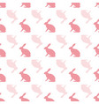 pink and white hare rabbit repeat pattern vector image vector image
