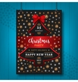 Poster Party Christmas Happy New Year flyer vector image