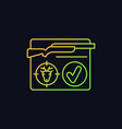 resident hunting license gradient icon for dark vector image