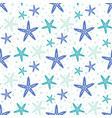 seamless pattern with cute starfish isolated on vector image vector image