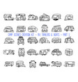 set linear icons camper trailers vector image
