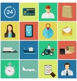 Set of flat color icons Concept for delivery vector image